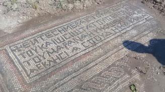 Bin 500 yıllık mozaik bulundu