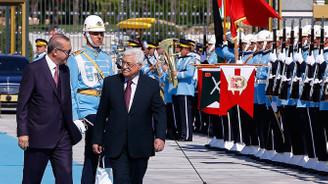 Cumhurbaşkanı Erdoğan, Abbas'ı resmi törenle karşıladı
