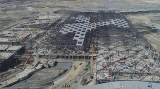 3'üncü havalimanı inşaatındaki son durum havadan görüntülendi