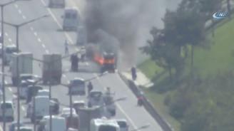 TEM'de araç yangını