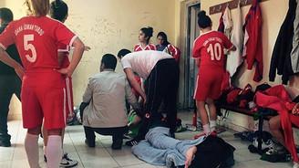 Kadınlar Ligi'nde sahaya erkekler girdi: 9 yaralı