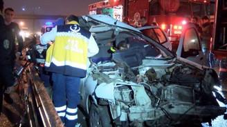 TEM'de feci kaza: 2 ölü, 2 yaralı