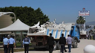 Mersin Deniz Park yıkılıyor