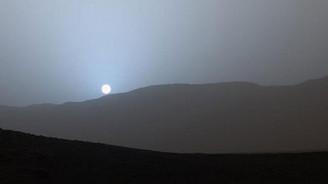 Mars'ta gün batımı böyle görüntülendi