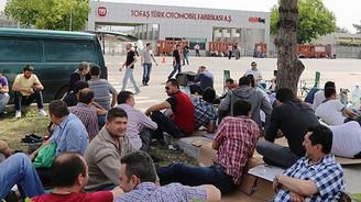 Bursa'da işçilerin eylemi devam ediyor
