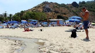 Mavi bayraklı plajda kurtçuk kaynıyor