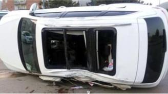 CHP'nin seçim aracı kaza yaptı, 1 ölü