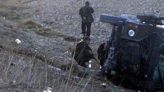 Askeri araç kaza yaptı: 10 yaralı