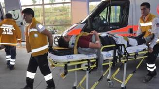 Otomobil şarampole uçtu: 1'i ağır 5 yaralı