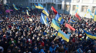 Ukrayna'da klozetli eylem