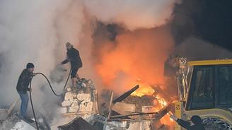 Bursa'da plastik fabrikasında yangın