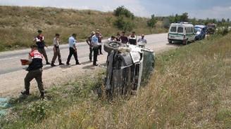Çorum'da kaza: 1 ölü, 4 yaralı