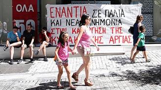 Yunanistan'da 'pazar' protestosu