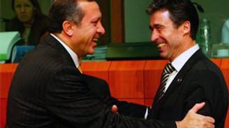 Erdoğan Rasmussen'le görüştü