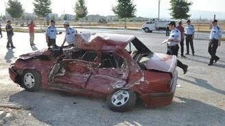 Çorum'da kaza: 1 ölü 1 yaralı