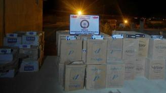 63 bin paket kaçak sigara ele geçirildi