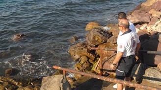 Kıyıya vurunca polis alarma geçti