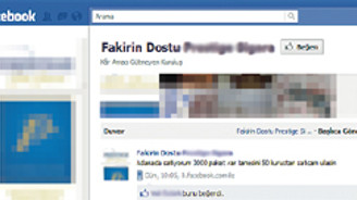 Facebook'ta kaçak sigara pazarlaması