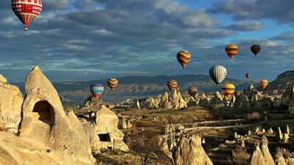 Kapadokya'da kriz balon turlarını da vurdu