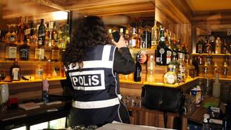 İzmir'de sahte ve kaçak içki denetimi