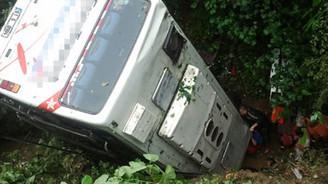 Trabzon'da düğün otobüsü devrildi: 8 ölü