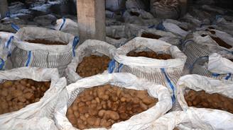 Tonlarca patates depoda kaldı
