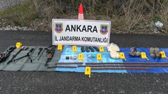 Ankara'da silah ve mühimmat bulundu