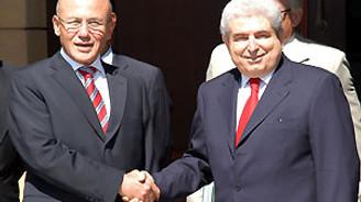 Talat ve Hristofyas, seçim öncesi bir araya geldi