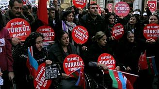 Hocalı Katliamı Taksim'de anıldı