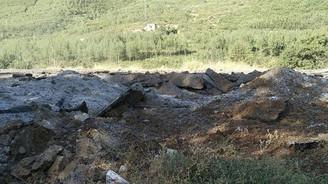Karayoluna döşenen patlayıcı imha edildi