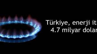 Türkiye, enerji ithalatına 4.7 milyar dolar akıttı