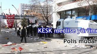 KESK yürüyüşüne polis müdahalesi