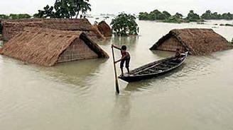 Pakistan'da 400 bin kişi sel mağduru