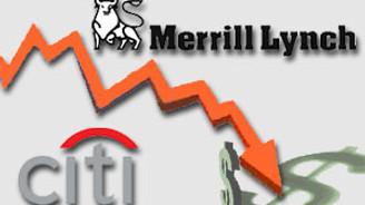 Citi ve  Merrill Lynch zararda