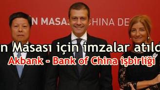 Akbank ile Bank of China işbirliğine gitti