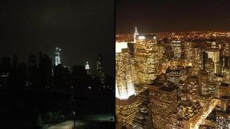 New York karanlık kente dönüştü
