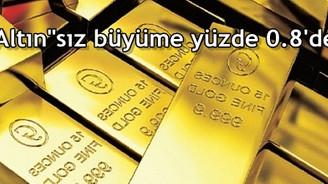 """""""Altın""""sız büyüme yüzde 0.8'de kaldı"""