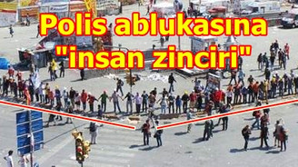 """Gezi Parkı """"zincir""""e alındı"""