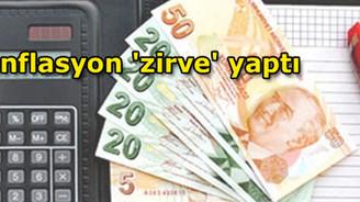 Enflasyon 'zirve' yaptı