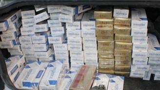 Kaçak sigara ve purolar imha edildi