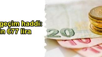 Asgari geçim haddi:  3 bin 677 lira