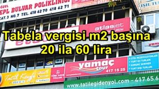 Belediyeler m2 başına her tabeladan yıllık 20-60 lira reklam vergisi alacak