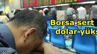 Borsa sert düştü dolar yükseldi