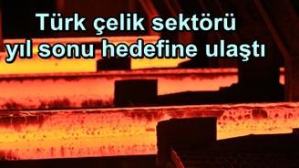 Türk çelik sektörü yıl sonu hedefine ulaştı