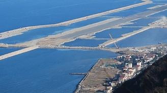 Hava limanı için 2.5 milyon m2 alan dolduruldu