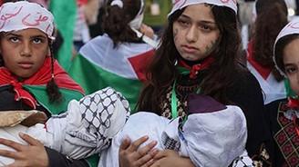 Gazze'de 'İnsanlık mezarlığı'protestosu