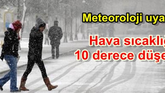 Hava sıcaklığı 10 derece düşecek