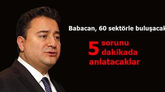 Babacan, 60 sektörün temsilcisiyle buluşacak