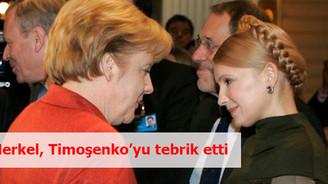 Merkel, Timoşenko'yu tebrik etti