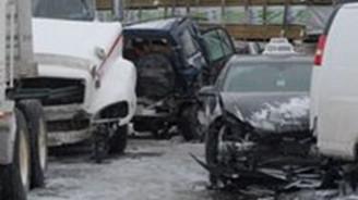 96 araçlık zincirleme trafik kazası